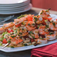 Grilled Shrimp and White Bean Salad