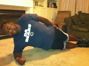 Side plank - extended legs