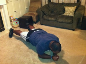 Plank tap - leg action
