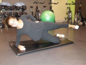 Side Plank Leg Raise, Level 1-2 End Position