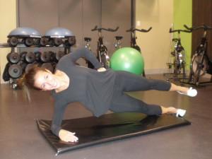 Side Plank Leg Raise, Level 3 End Position