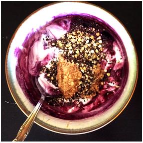 yogurt, berries and pb
