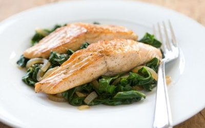 Heart Healthy Swiss Chard & Salmon