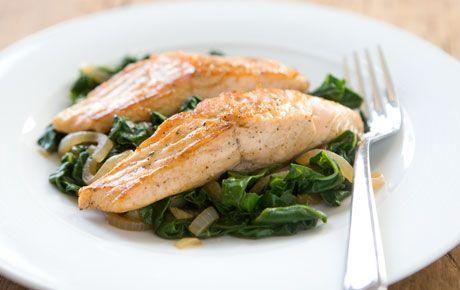 Heart Healthy Swiss Chard & Salmon